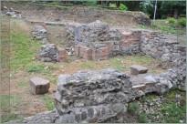 odsłonięte fundamenty ruin zamku w Dzierzgoniu